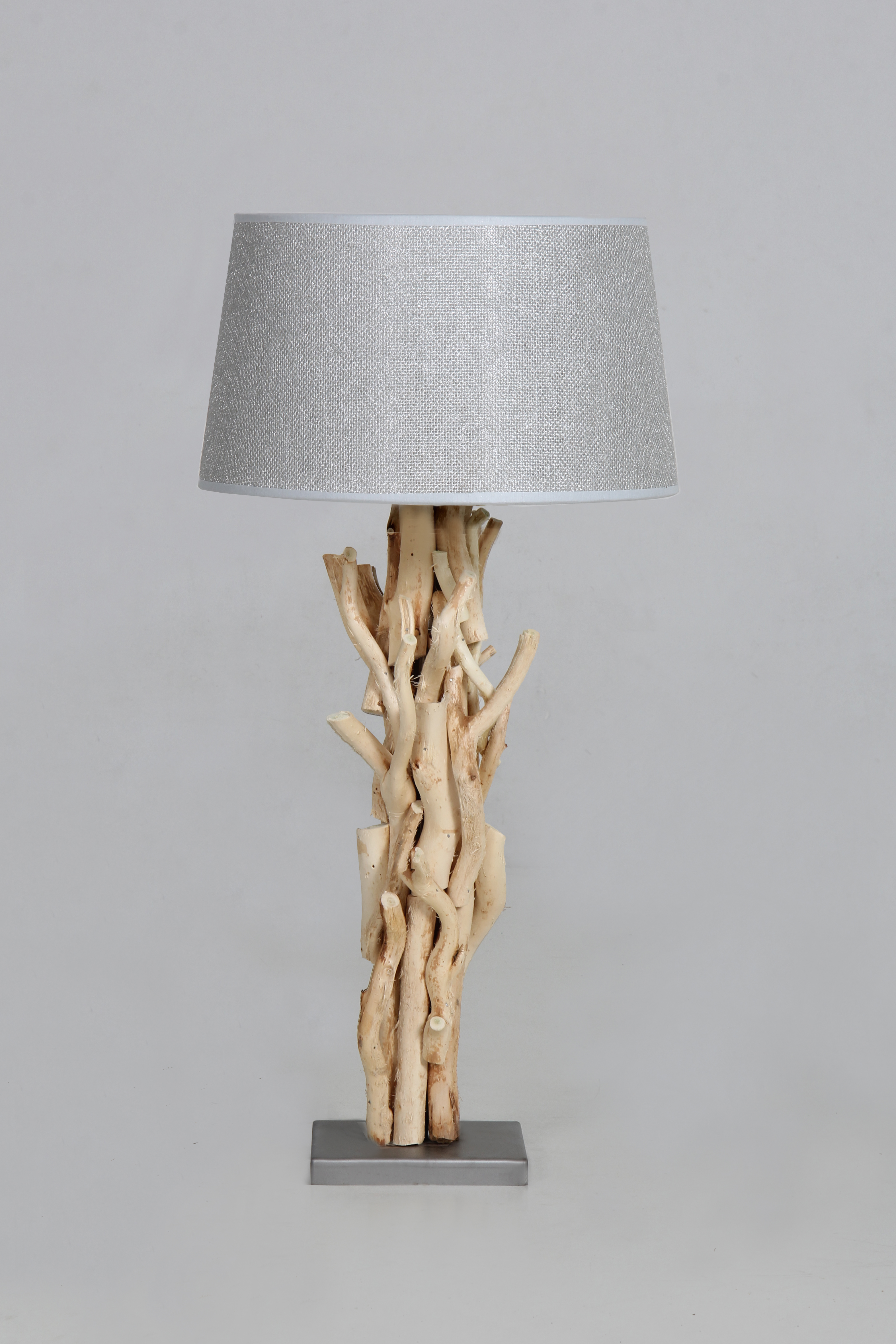 Tafelen wand lampen tafellamp blank kronkel hout kapje for Lampen 60 cm